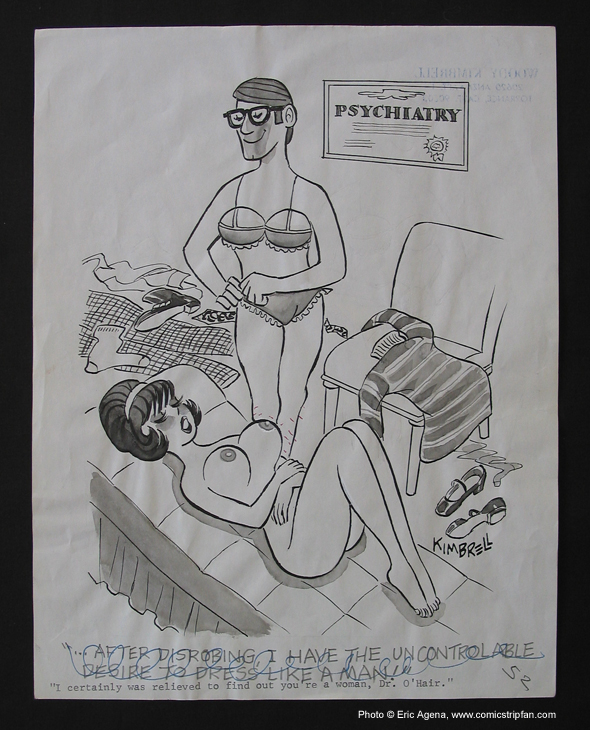 Original Sex to Sexty cartoon panel by Woody Kimbrell, published in the late ...