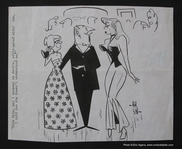 Original Sex to Sexty cartoon panel by Ah Sin, published in the late 1960's.