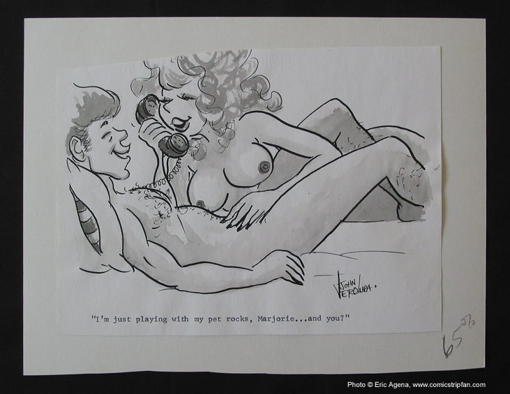 Original Sex to Sexty cartoon panel by John Verdura, published in the late ...